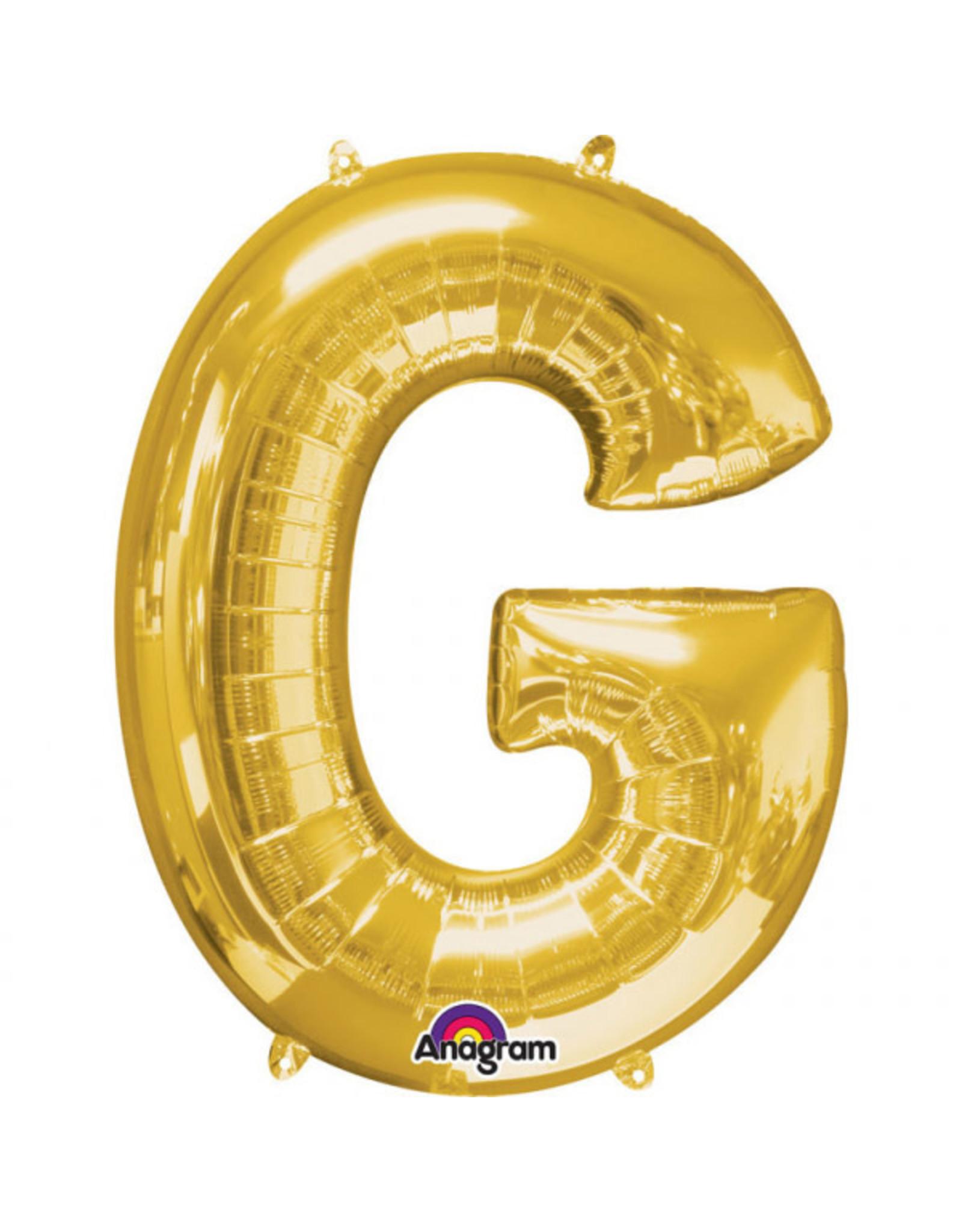 Amscan folieballon goud letter G 40 cm