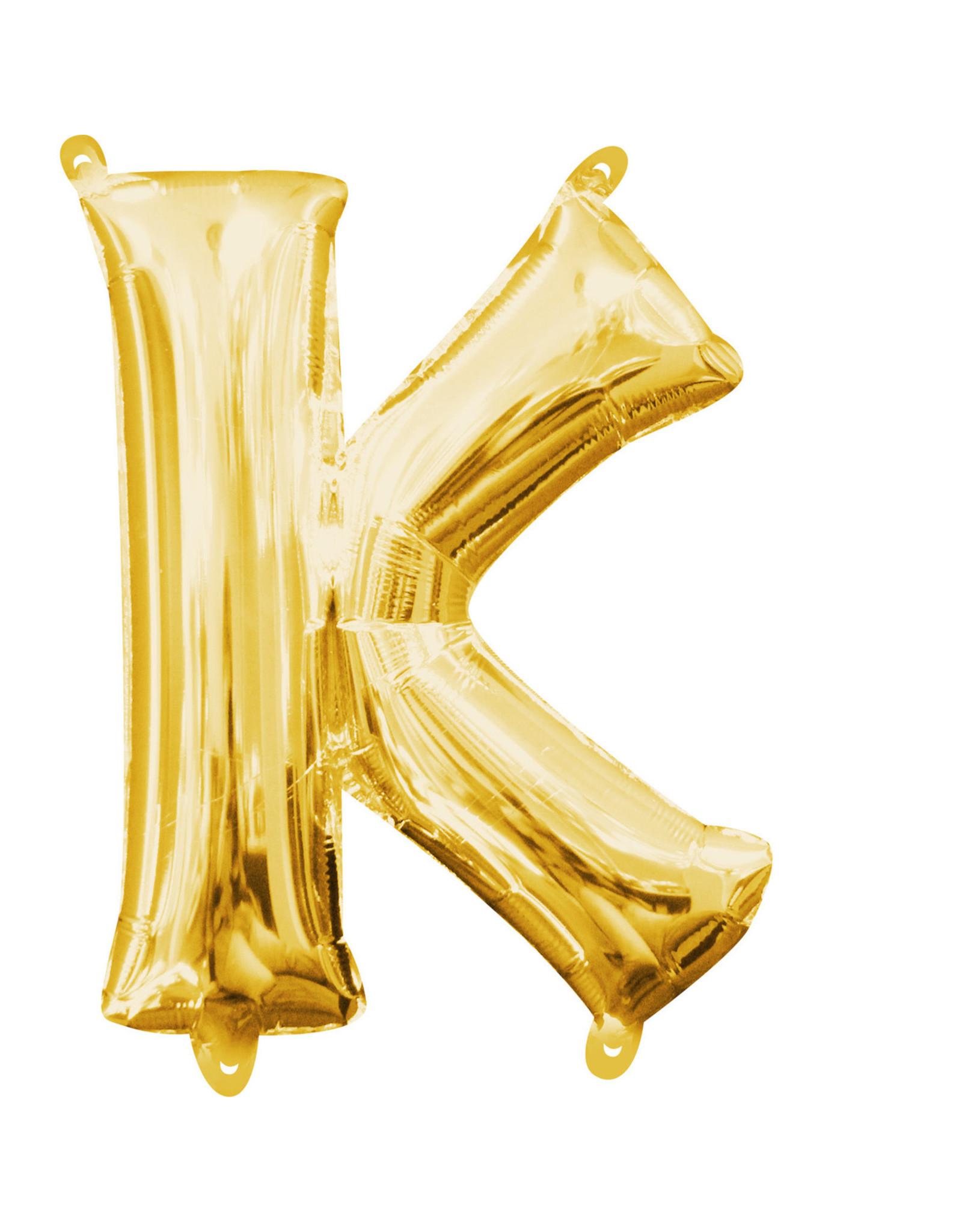 Amscan folieballon goud letter K 40 cm