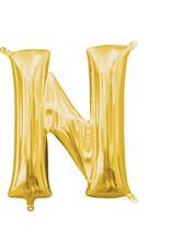 Amscan folieballon goud letter N 40 cm