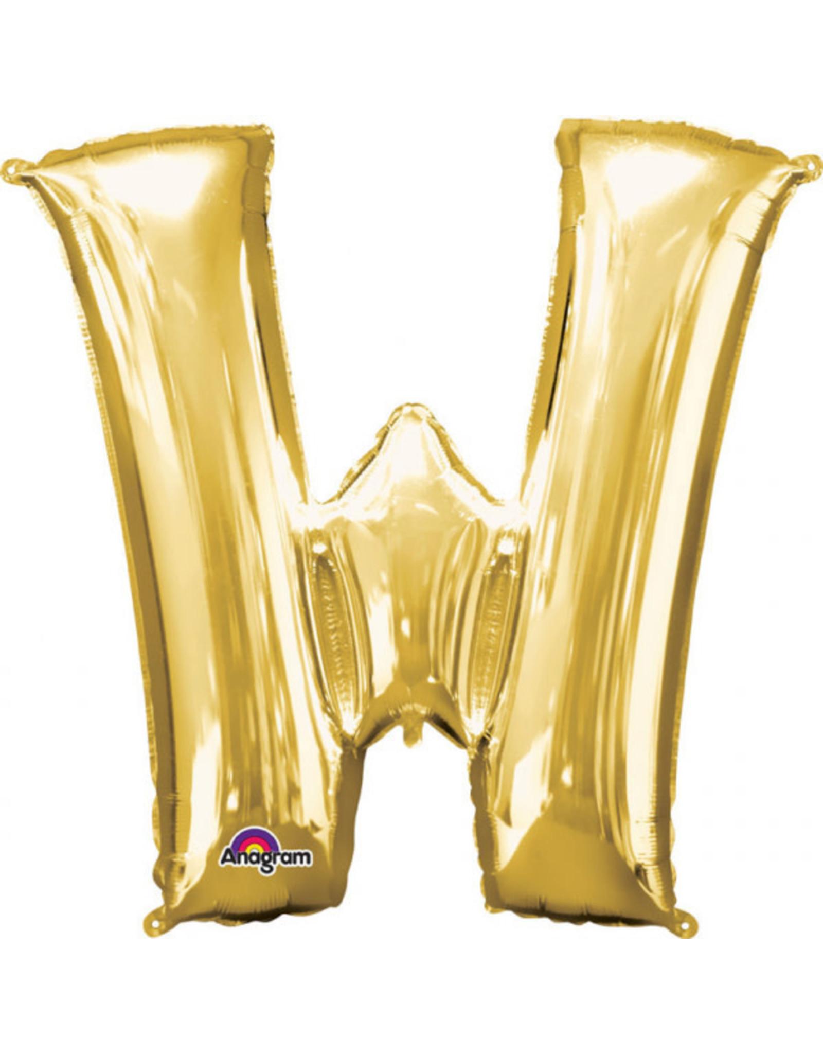 Amscan folieballon goud letter W 40 cm