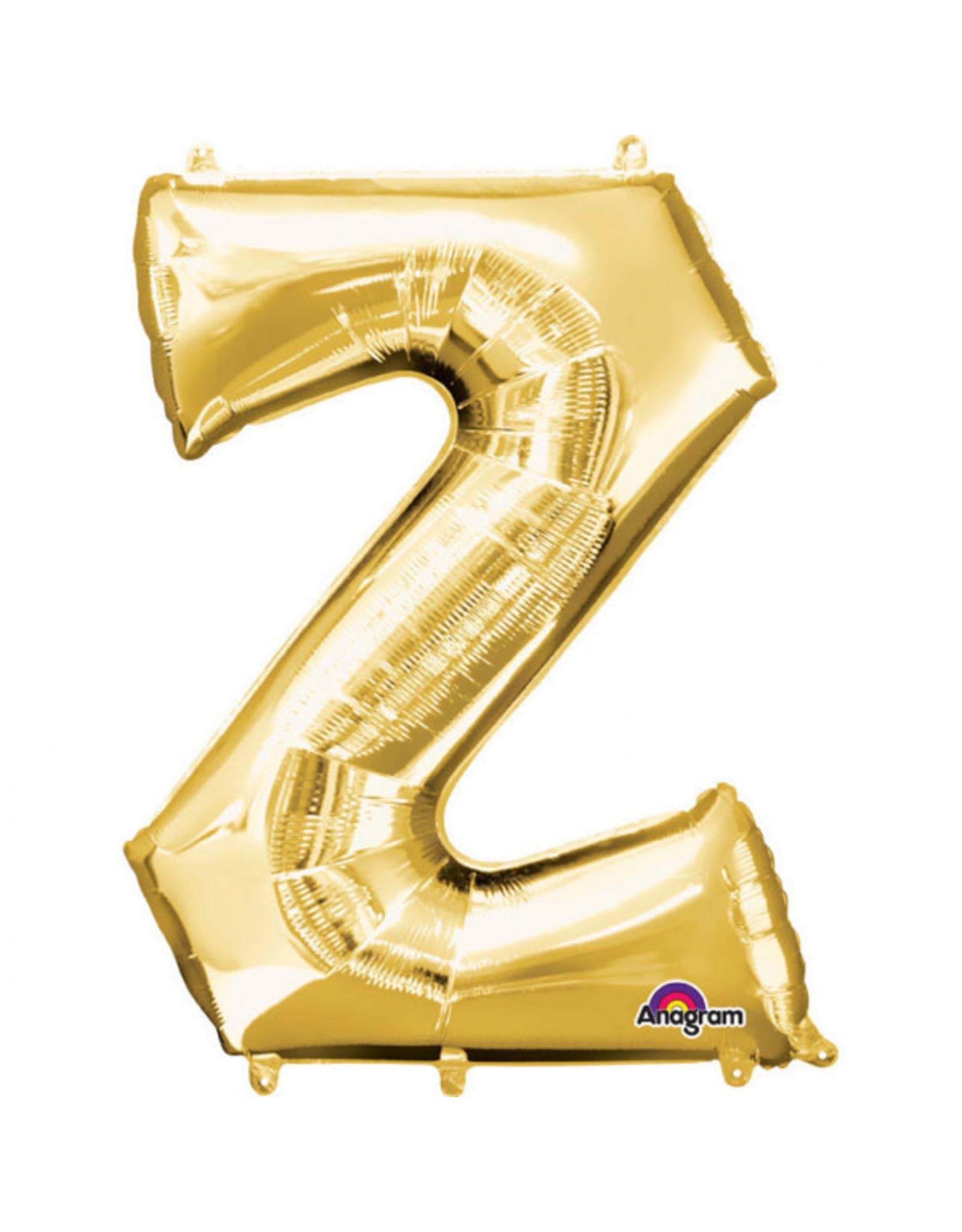 Amscan folieballon goud letter Z 40 cm