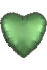 Amscan folieballon groen hart 43 cm