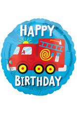 Amscan folieballon happy birthday brandweer 43 cm