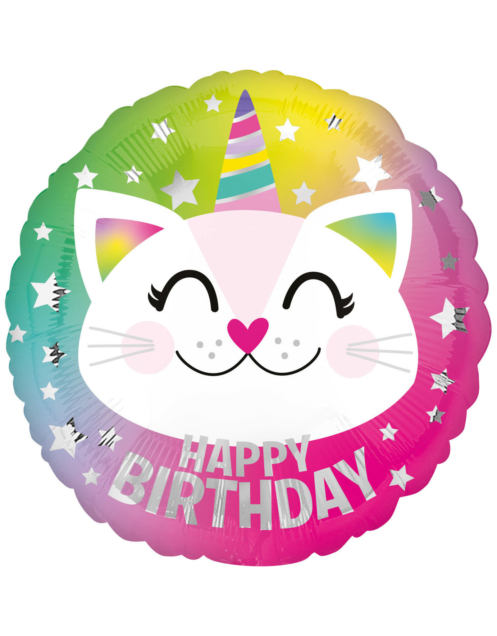 Amscan folieballon happy birthday caticorn 43 cm
