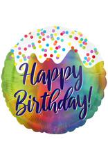 Amscan folieballon happy birthday holographic ijs thema 46 cm