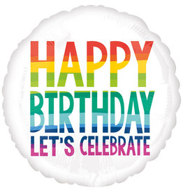 Amscan folieballon happy birthday let's celebrate 43 cm