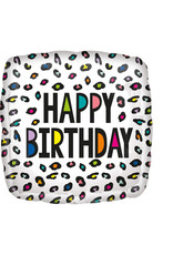 Amscan folieballon happy birthday luipaard regenboog 43 cm