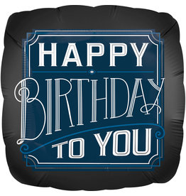 Amscan folieballon happy birthday to you D-blauw 43 cm