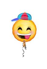 Amscan folieballon happy emoticon with hat 43 x 50 cm