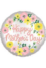 Amscan folieballon happy mother's day bloem 43 cm