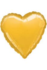 Amscan folieballon hart goud metallic 43 cm