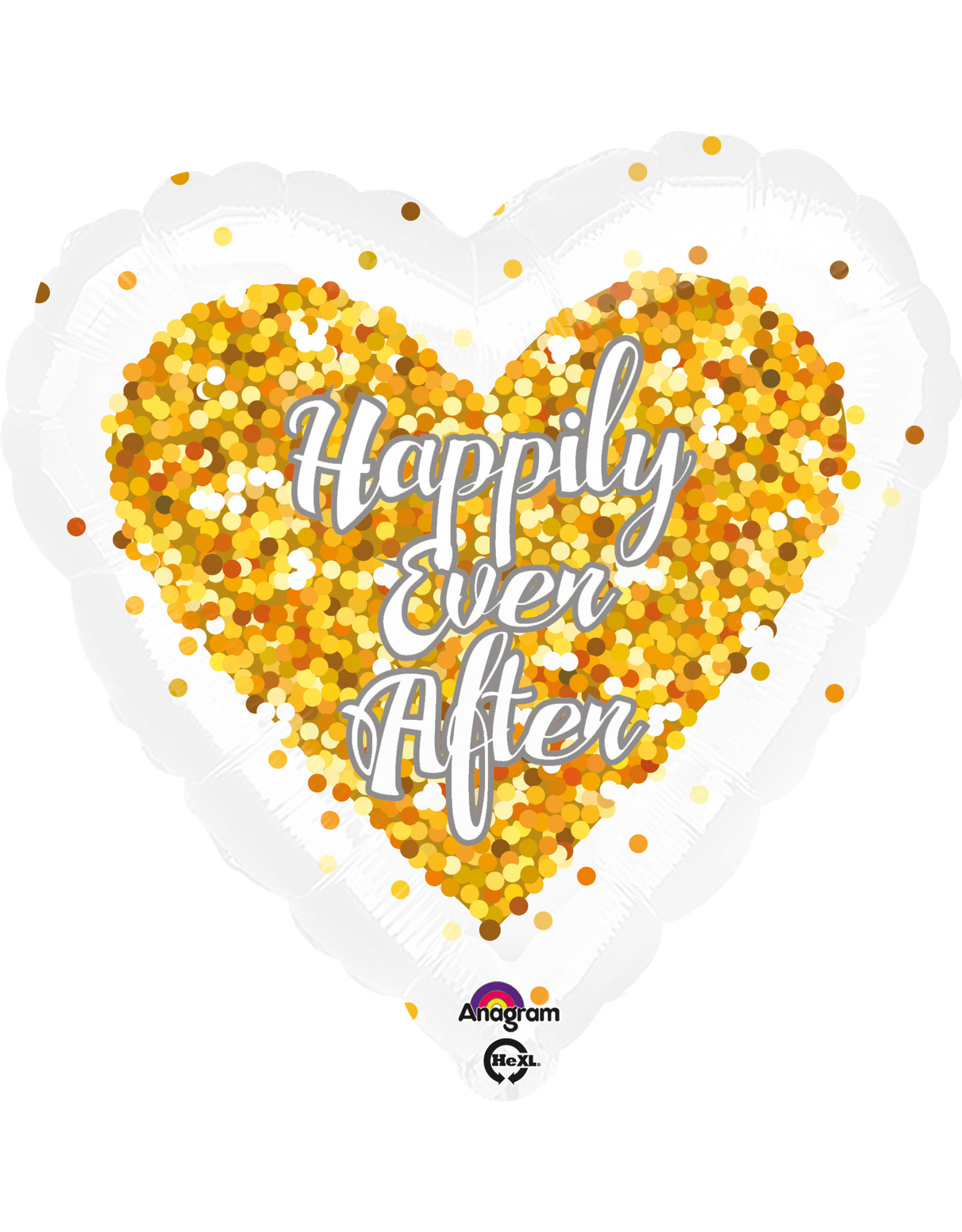 Amscan folieballon hart happily ever after 43 cm