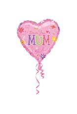 Amscan folieballon hart love you mum 43 cm