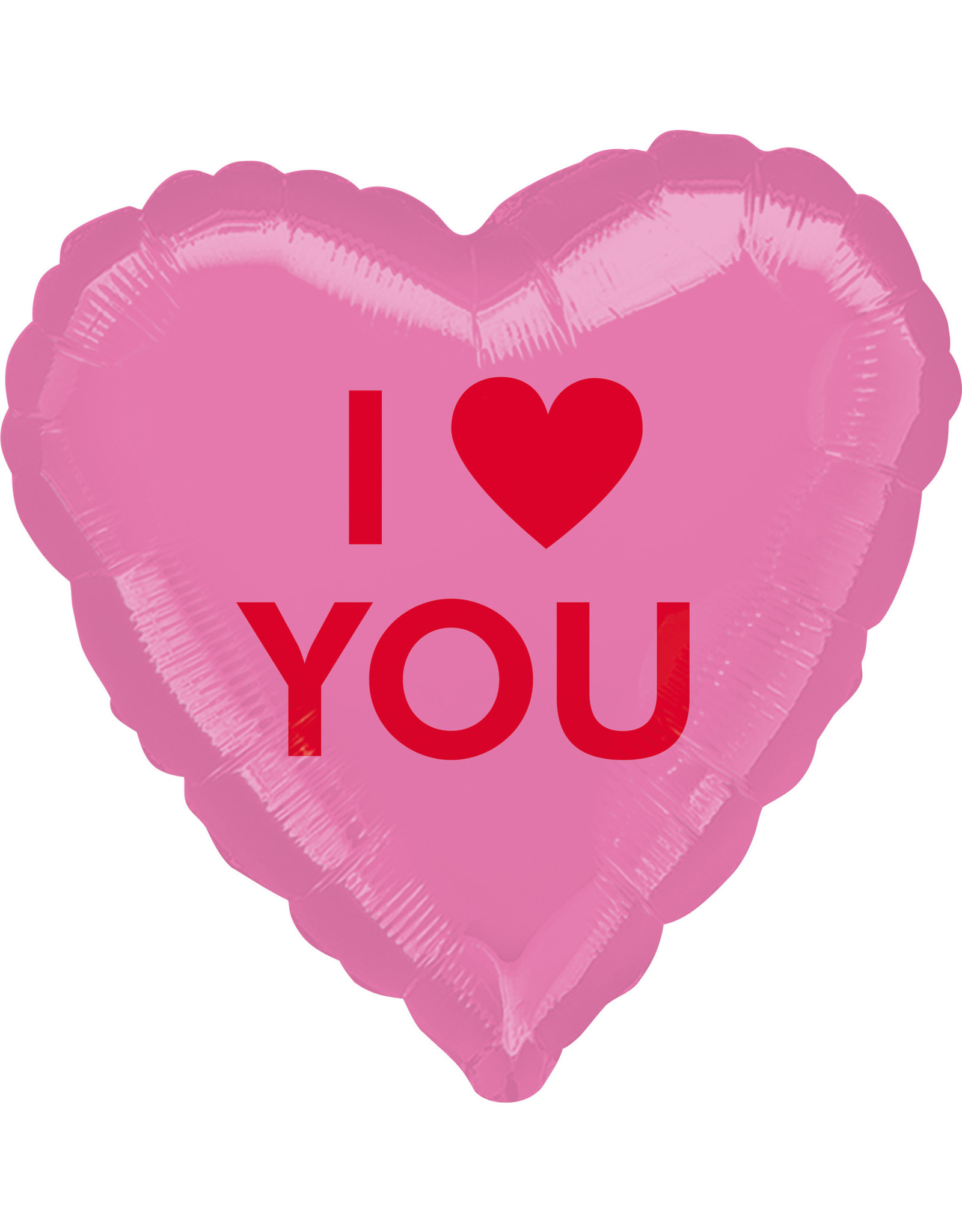 Amscan folieballon hartvorm I heart you 43 cm