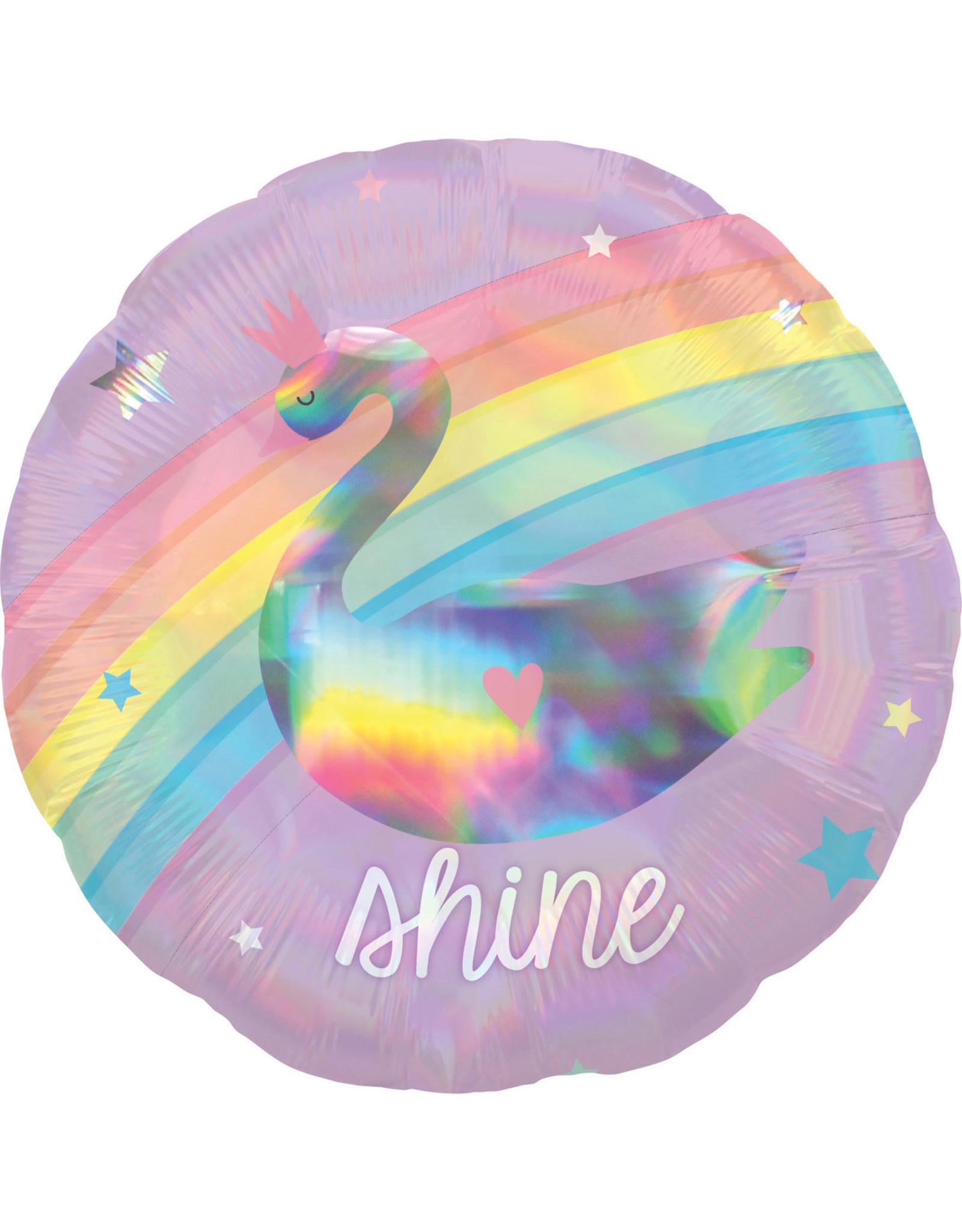Amscan folieballon holographic sparkle & shine 45 cm