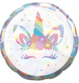 Amscan folieballon holographic unicorn 45 cm