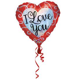 Amscan folieballon I love you 45 cm