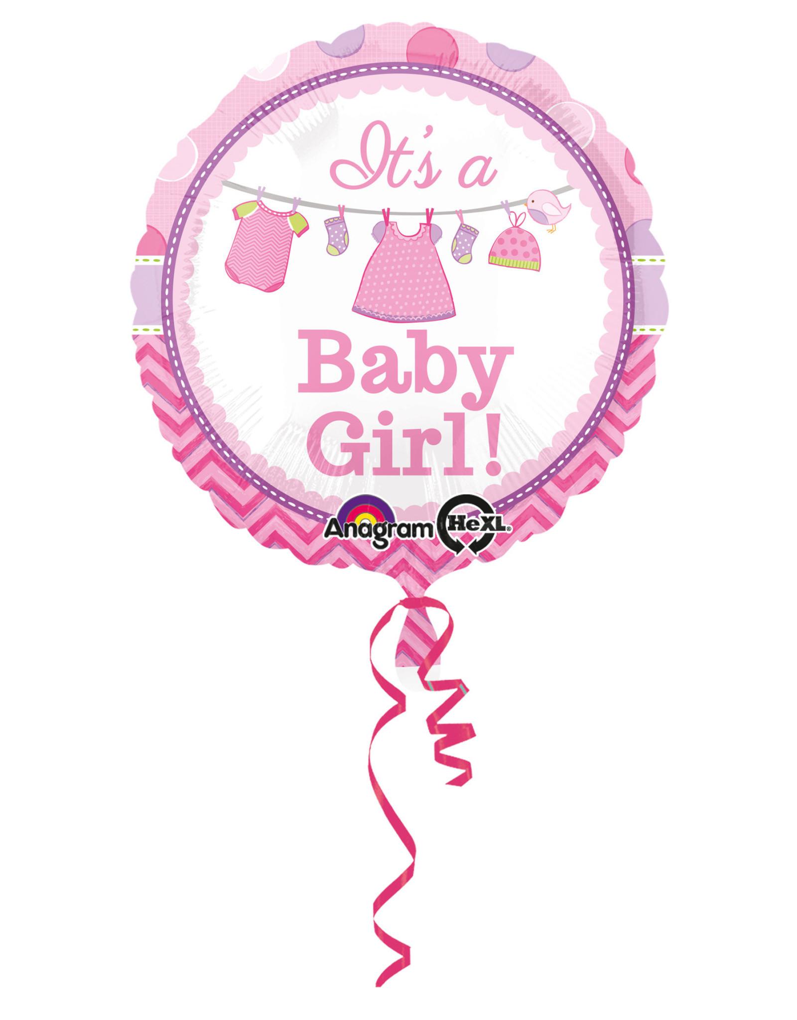 Amscan folieballon it's a baby girl! 43 cm