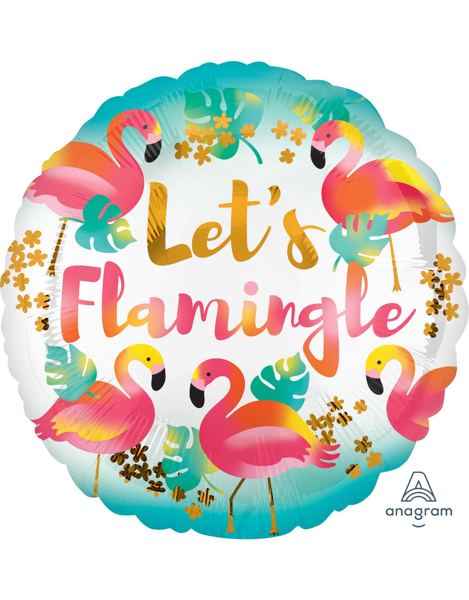 Amscan folieballon let's flamingo 43 cm