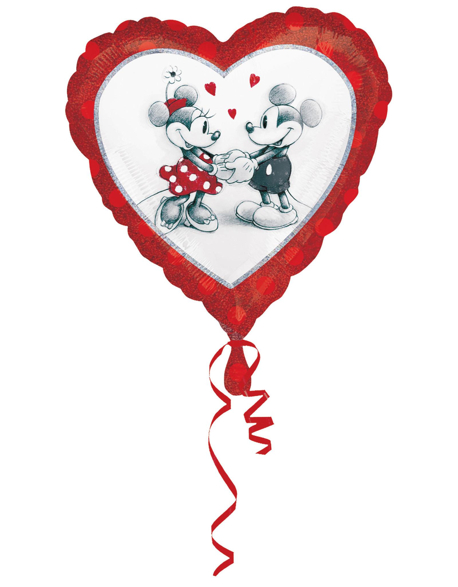 Amscan folieballon love Mickey & Minnie 45 cm