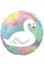Amscan folieballon lovely swan 45 cm