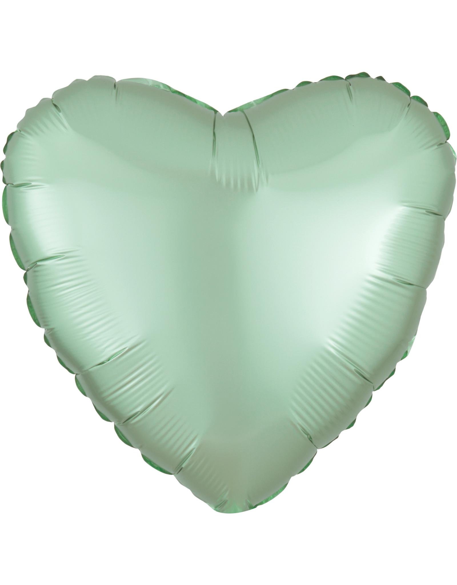 Amscan folieballon mint groen hart 43 cm