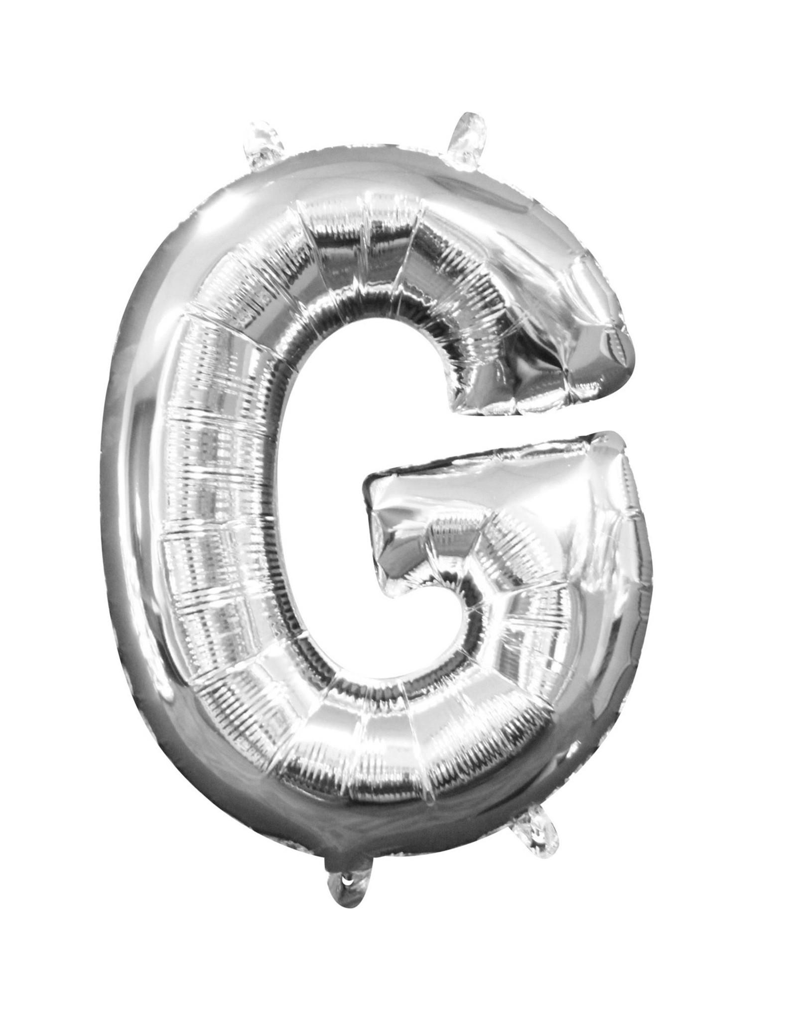 Amscan folieballon zilver letter G 40 cm
