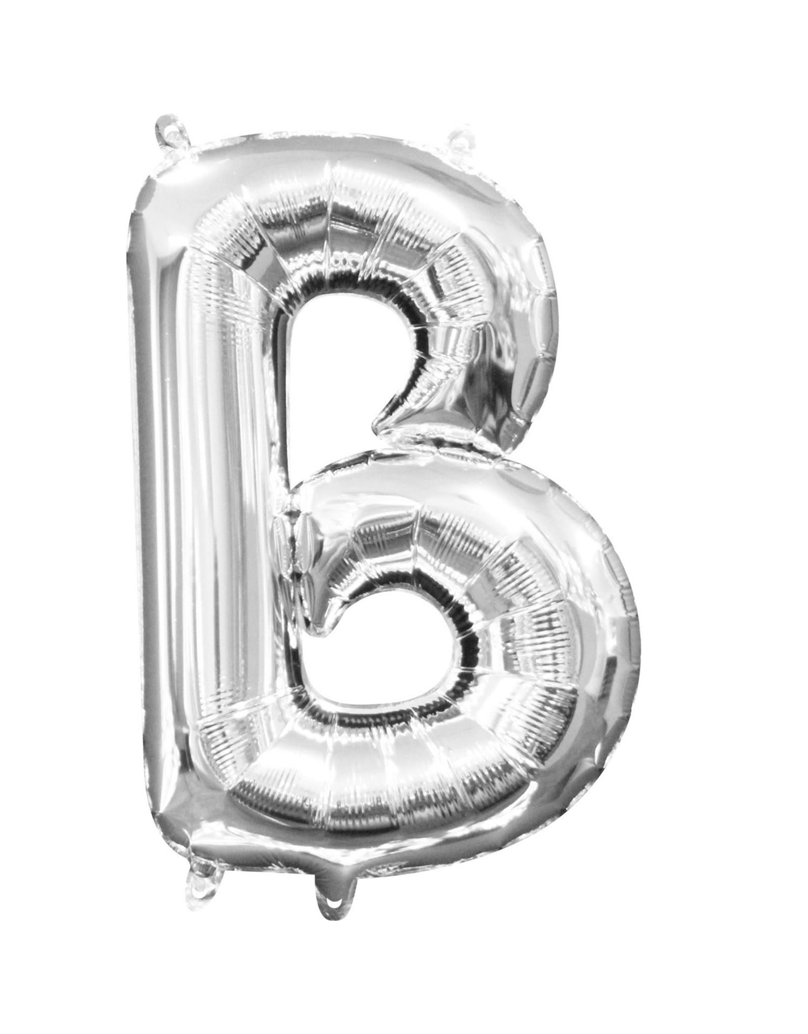 Amscan folieballon zilver letter B 40 cm
