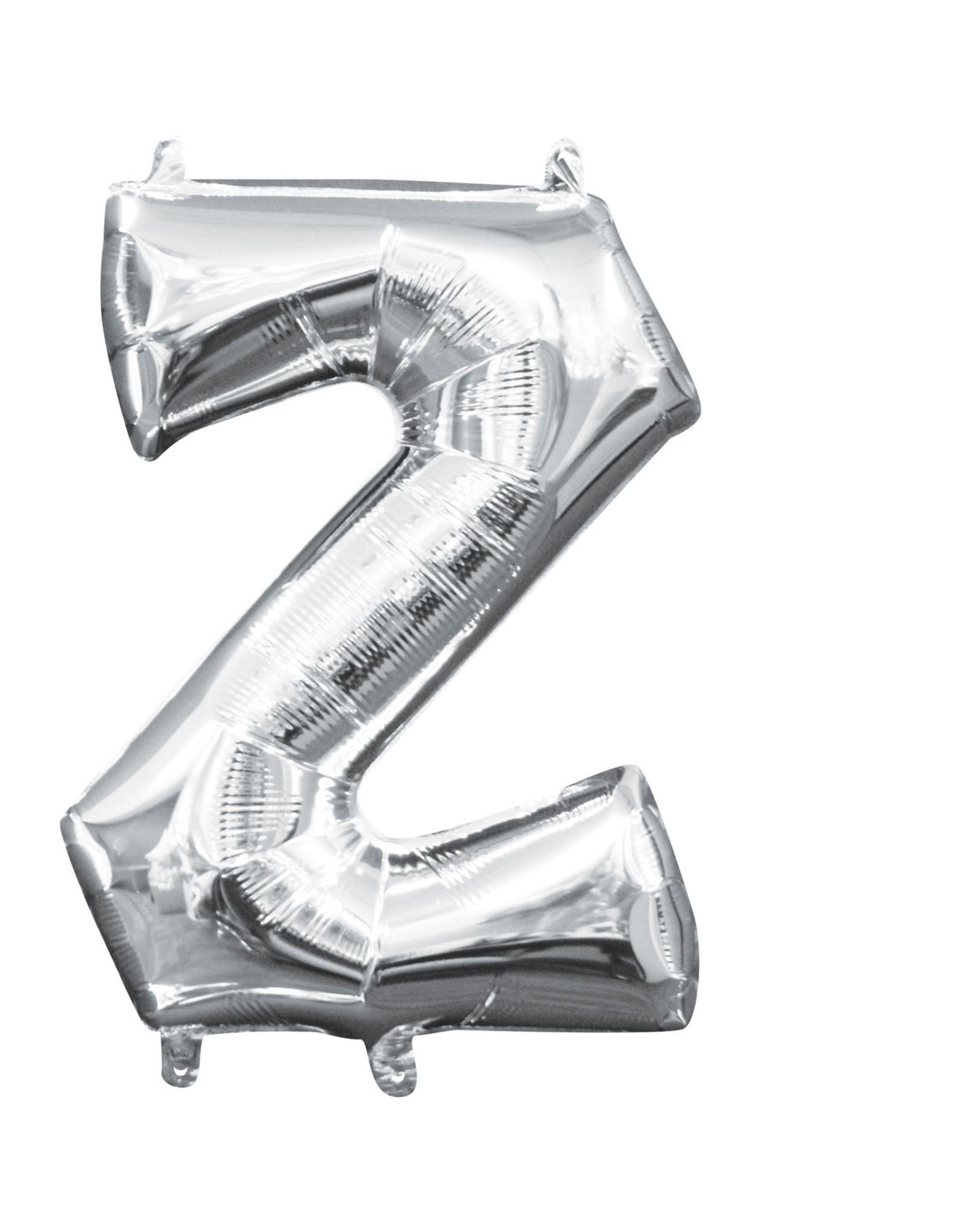 Amscan folieballon zilver letter Z 40 cm