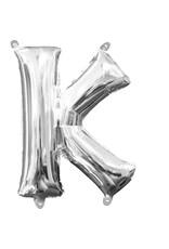 Amscan folieballon zilver letter K 40 cm
