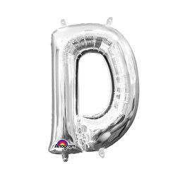 Amscan folieballon zilver letter D 40 cm