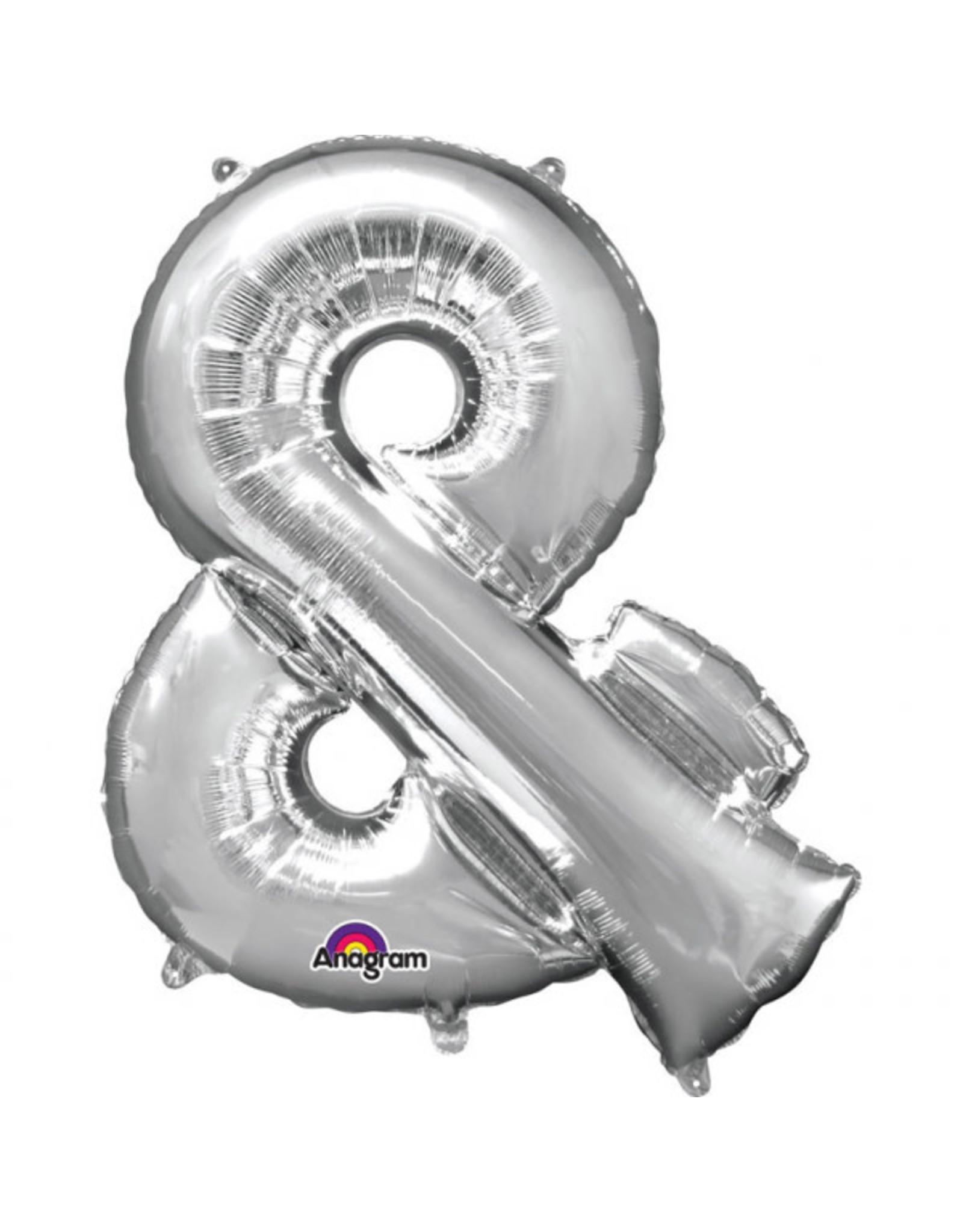 Amscan folieballon zilver & 40 cm