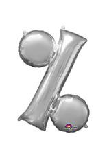 Amscan folieballon zilver % 40 cm
