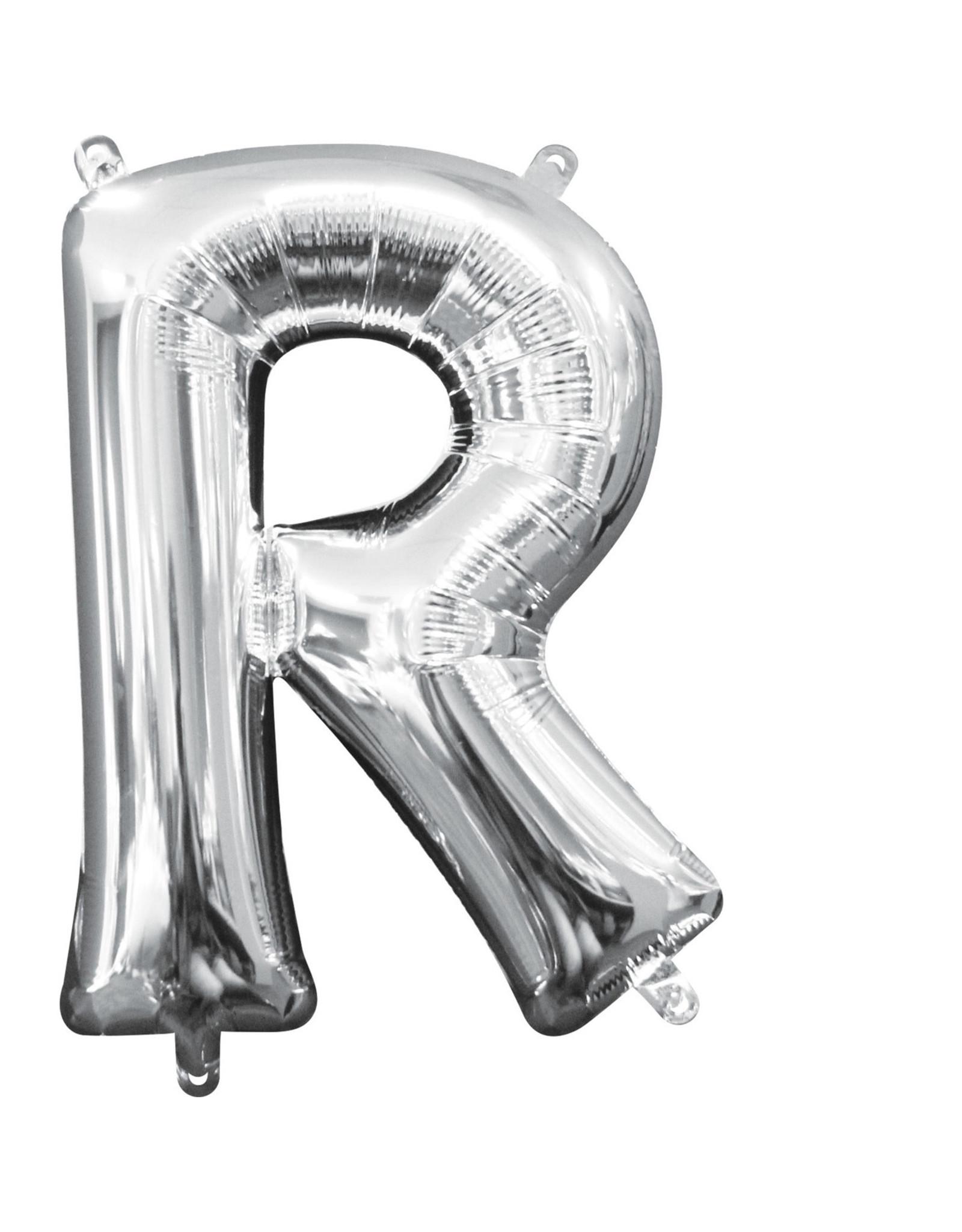 Amscan folieballon zilver letter R 40 cm