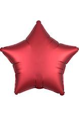 Amscan folieballon mat metallic rood ster 48 cm