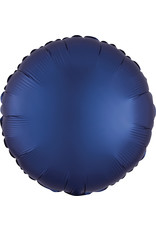 Amscan folieballon navy blue rond 43 cm
