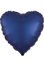 Amscan folieballon navy blue hart 43 cm