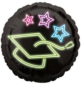 Amscan folieballon neon geslaagd 43 cm