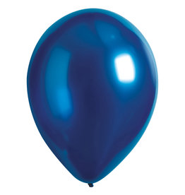 Amscan ballonnen chroom azure 11 inch 50 stuks