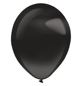 Amscan latex pearl jet black 14 inch 50 stuks