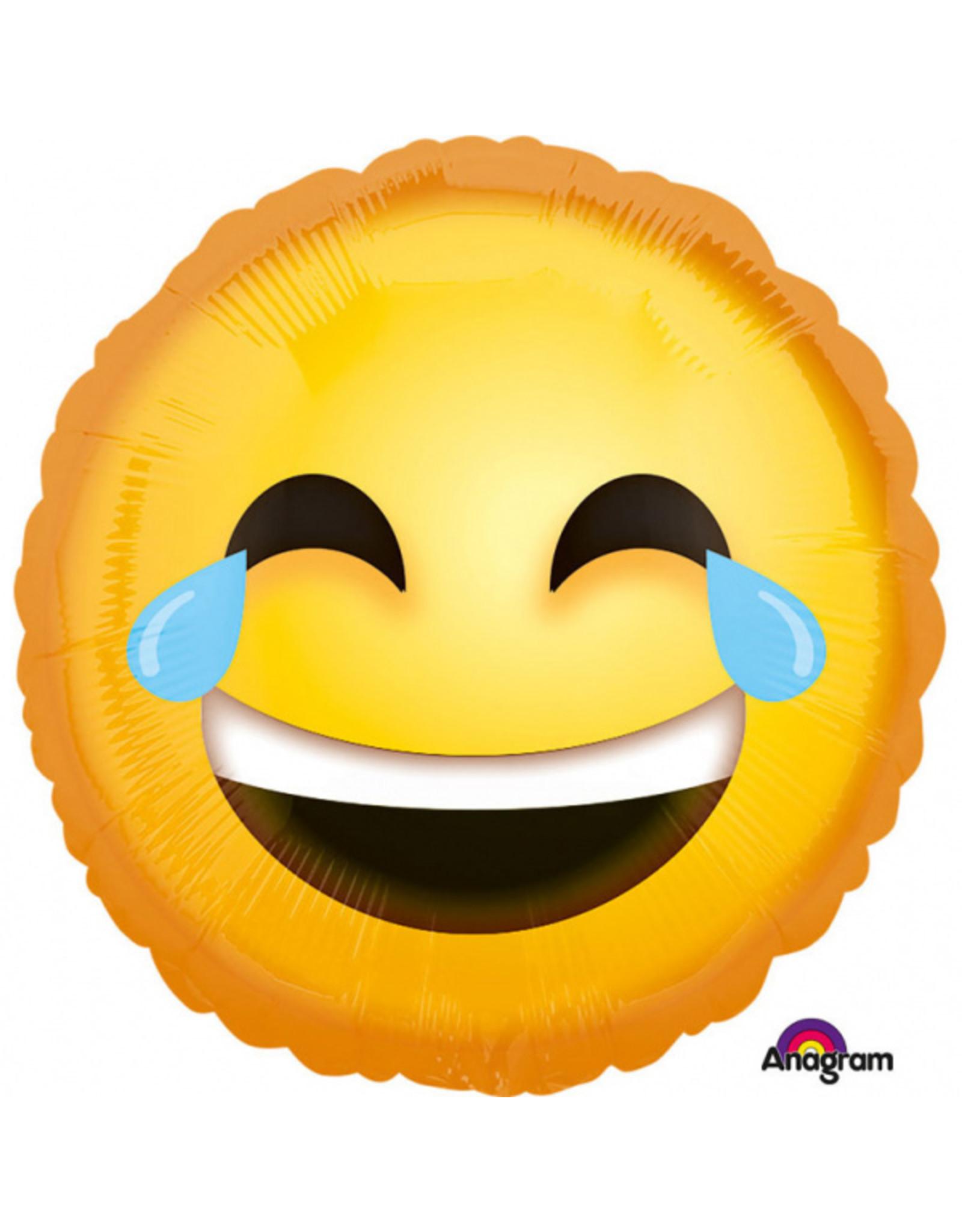 Amscan folieballon emoticon lachend 43 cm