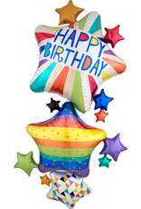 Amscan folieballon happy birthday multi balloons 1.20 meter