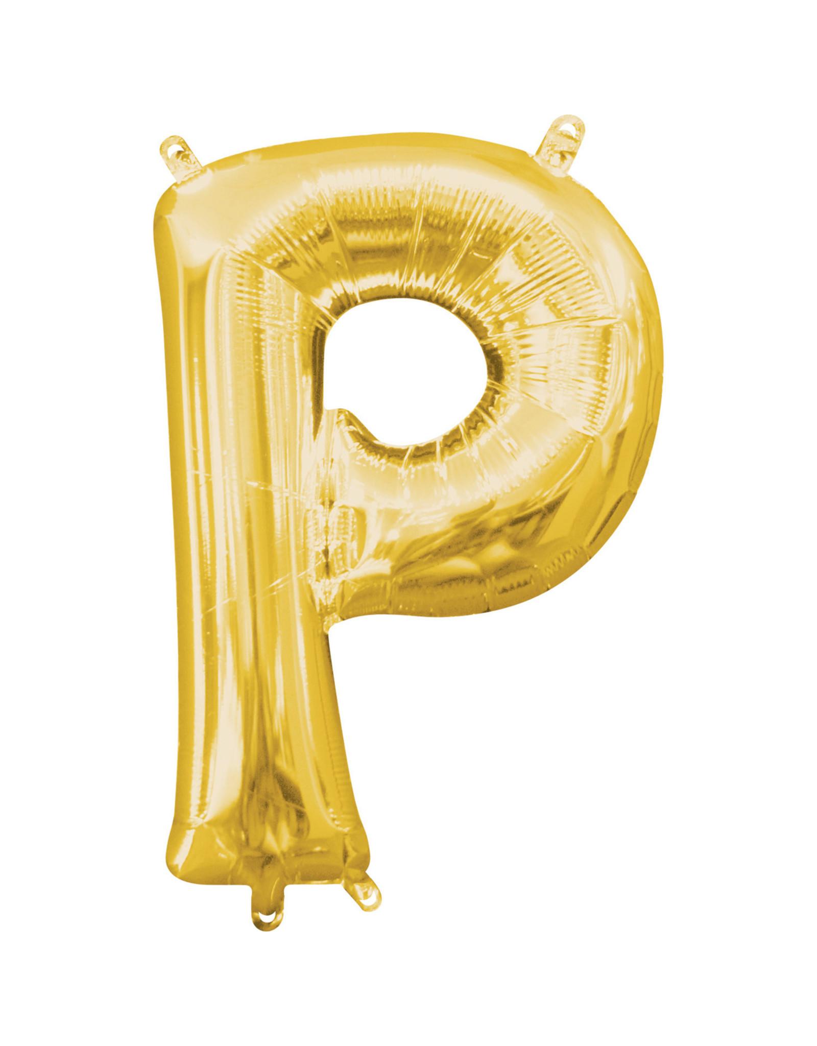 Amscan folieballon goud letter P 40 cm