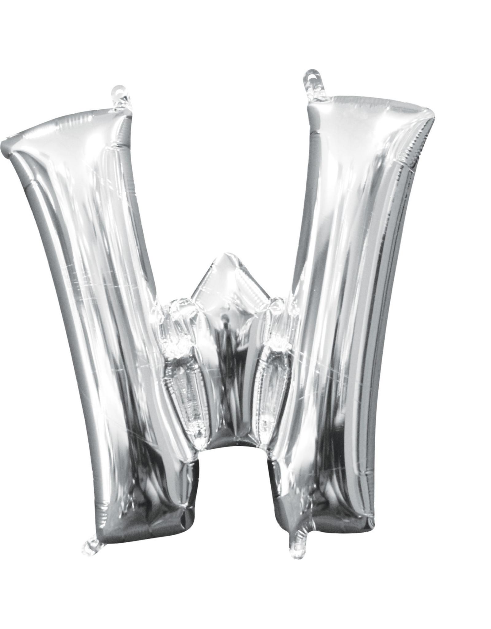 Amscan folieballon zilver letter W 40 cm