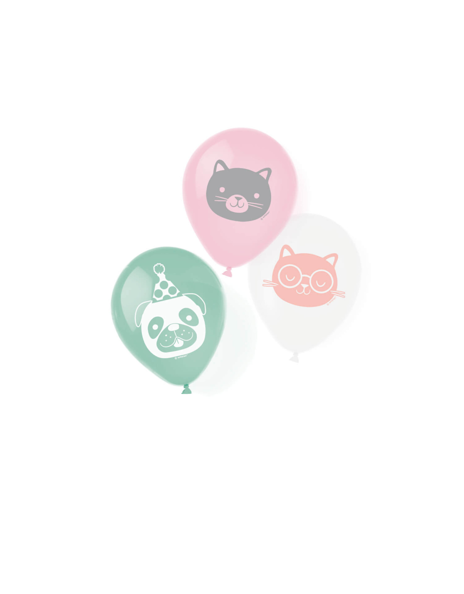 Amscan latex ballonnen Hello pets 6 stuks