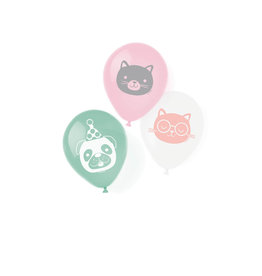 Amscan hello pets latex ballonnen 6 stuks