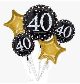 Amscan sparkling folieballonpakket 40 jaar