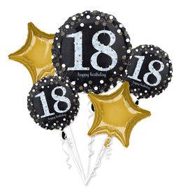 Amscan sparkling folieballonpakket 18 jaar