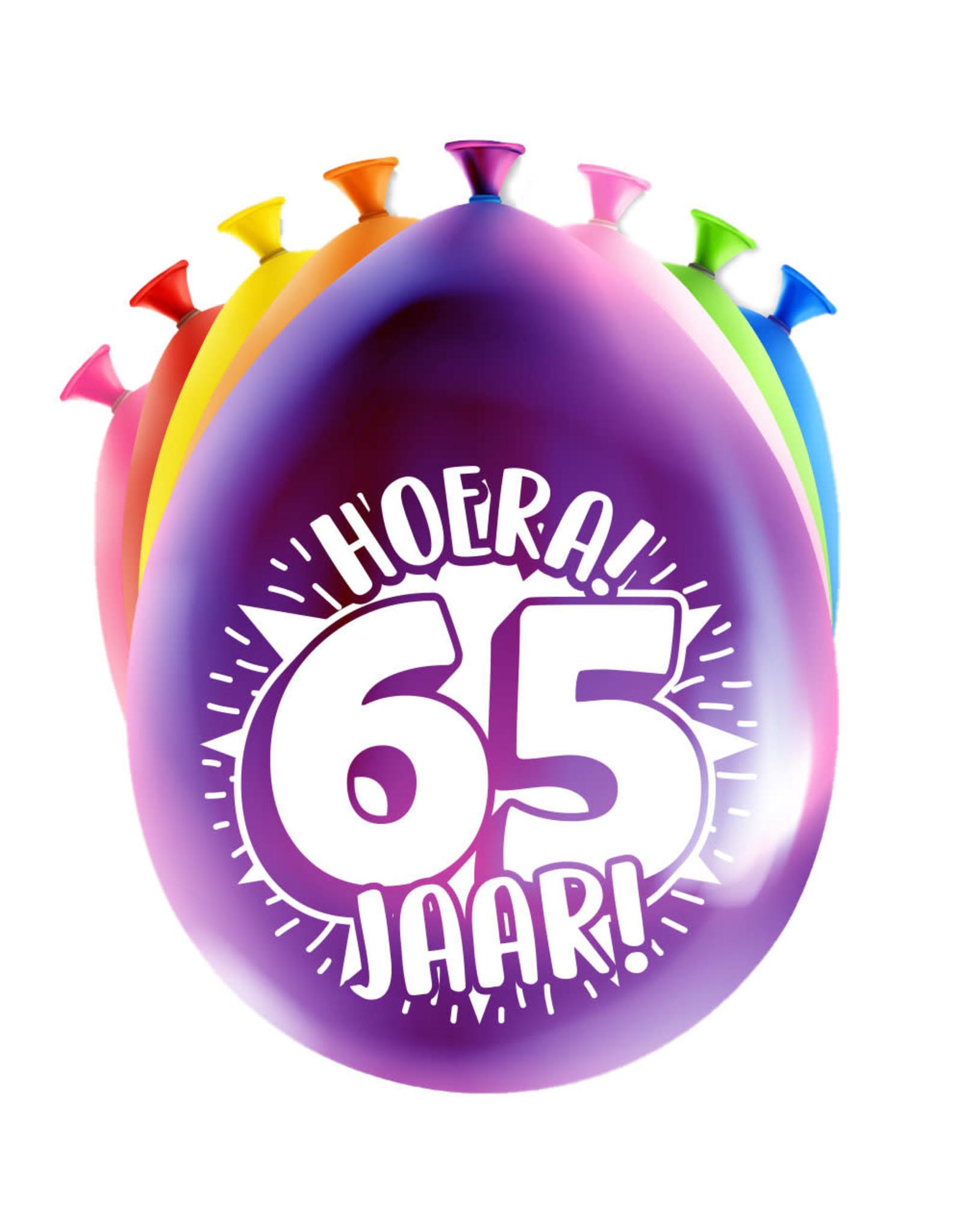 8 party ballonnen 65 jaar