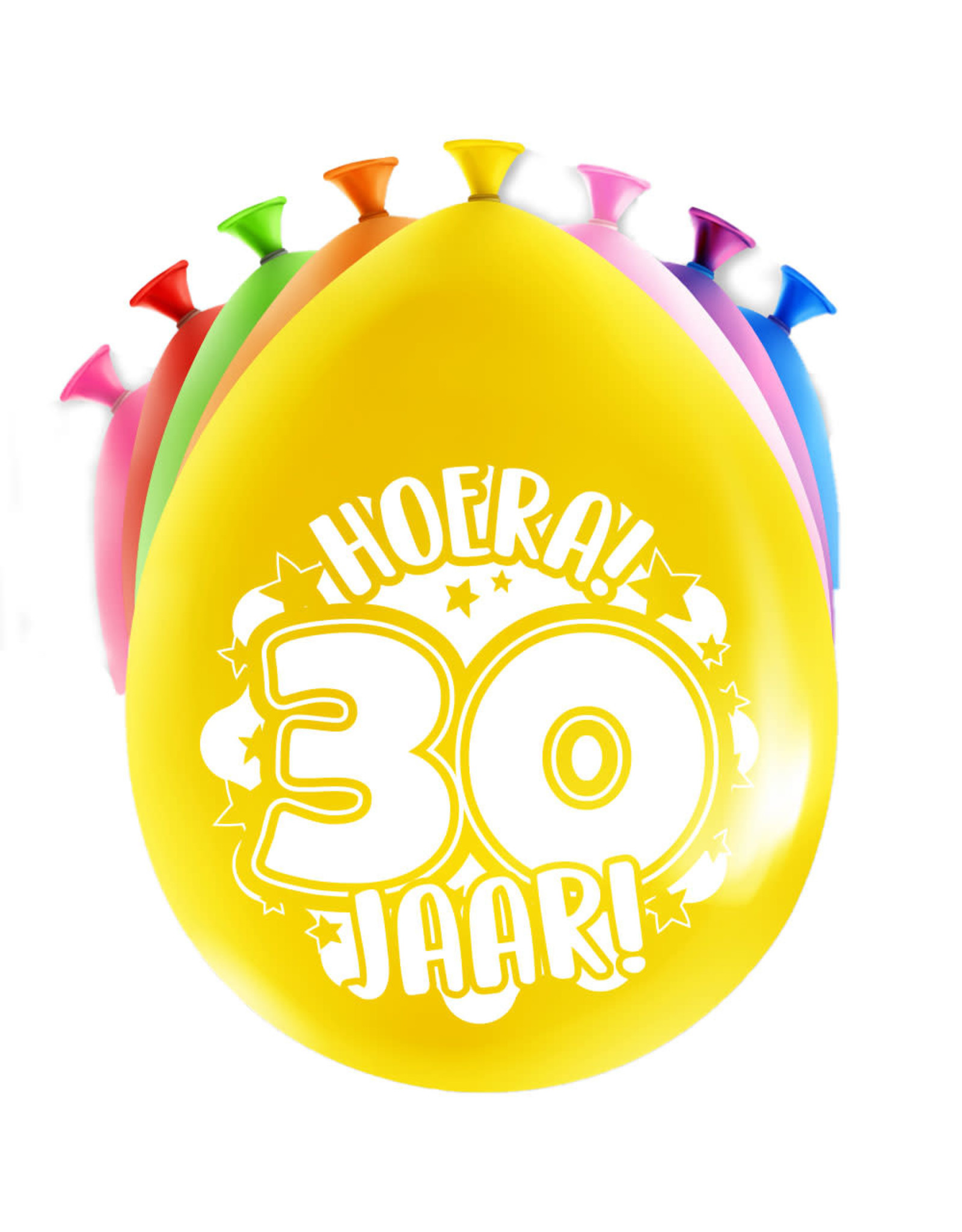 8 party ballonnen 30 jaar